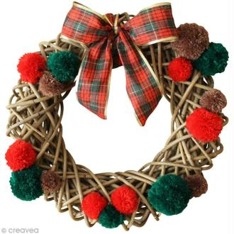La couronne de Noël DIY en rouge et vert