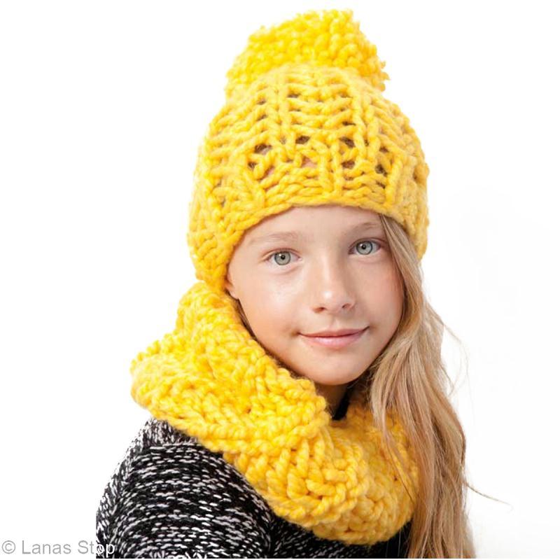 Tuto Bonnet et snood enfant en laine Lanas Stop Noruega - Idées conseils et  tuto Crochet et tricot 8fa8a84de66
