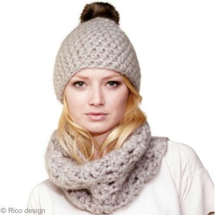 4cd8e827da09 Bonnet au crochet et écharpe Snood   le tuto - Idées conseils et ...
