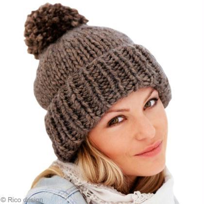 39f4715b515 Tricot bonnet simple et facile en côtes et jersey - Idées conseils ...