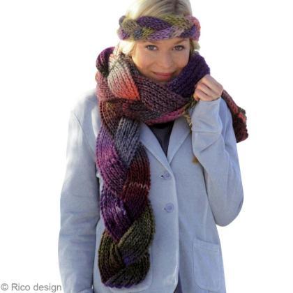 5e5c34340184 Modèle tricot   une écharpe tressée en laine - Idées conseils et ...