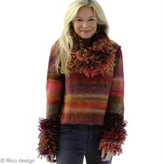 Modèle tricot Rico Design : un pull à coutures apparentes