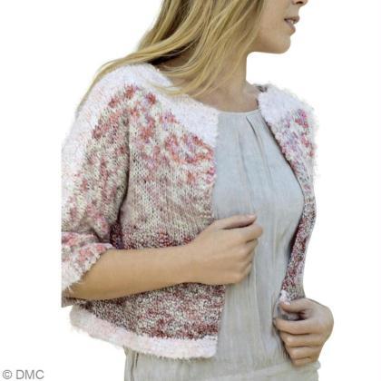 9e856096c067 Cardigan femme tricot gratuit   Modèle Cardigan Manches 3 4 - Idées ...