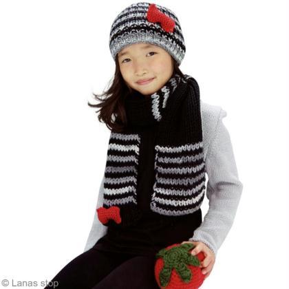 Tricot de bonnet et écharpe pour fille - Idées conseils et tuto ... 31452842229
