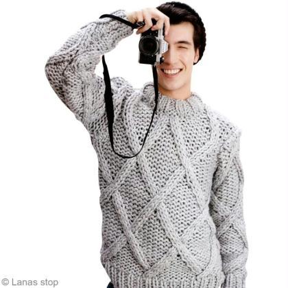 55385b7675a Tricot pull homme en laine Noruega - Lanas Stop n°123 - Idées ...