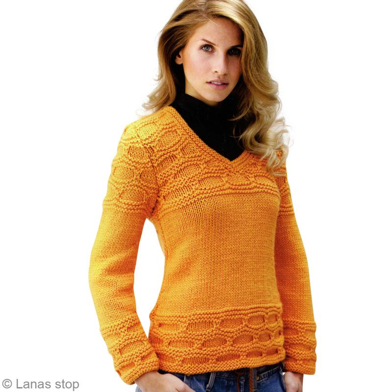 Tricot Pull Femme En Jersey Catalogue Lanas Stop N123