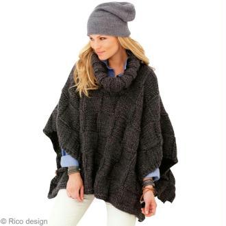 Modèle tricot : Poncho femme