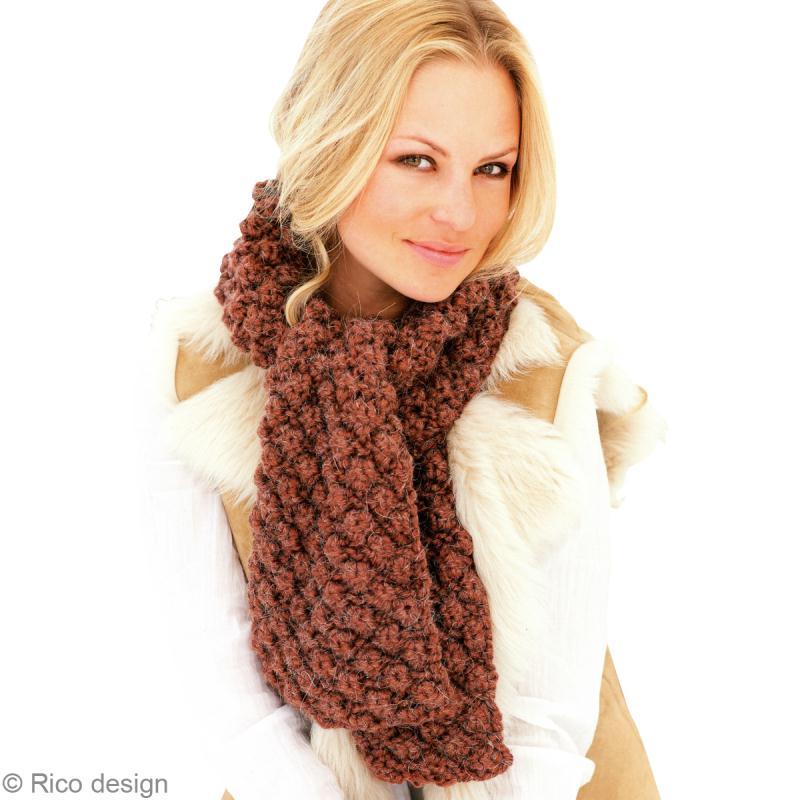 Tuto tricot r aliser une charpe en laine motif astrakan - Point tricot fantaisie pour echarpe ...