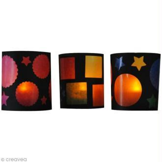 Fabriquer des photophores avec du papier vitrail