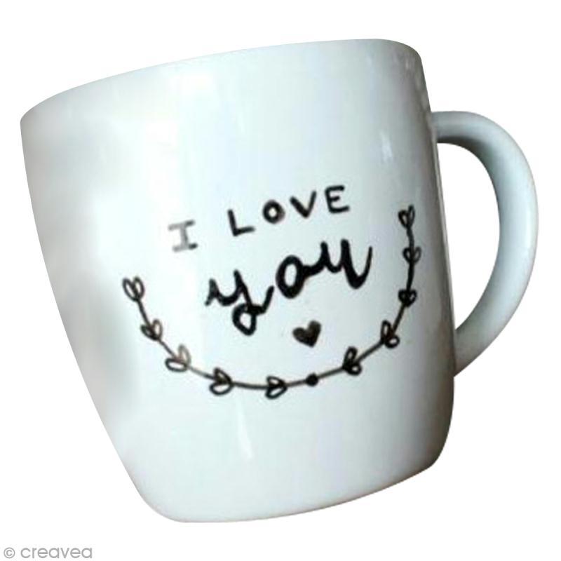 tuto personnaliser un mug avec de la peinture porcelaine id es conseils et tuto peinture. Black Bedroom Furniture Sets. Home Design Ideas