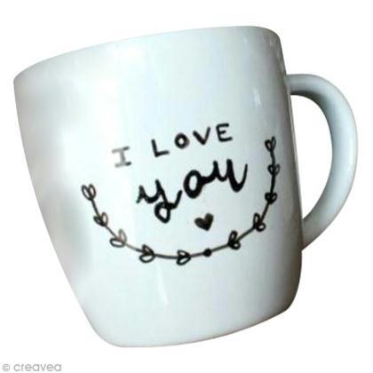 Ideal Tuto : personnaliser un mug avec de la peinture porcelaine - Idées  RW45