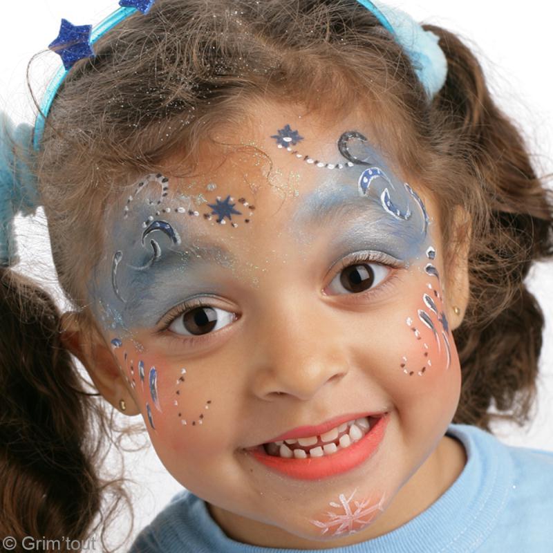 Maquillage enfant princesse d 39 hiver id es conseils et - Modele maquillage princesse ...