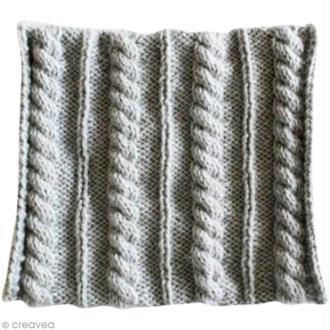 Tuto tricot : Snood à torsades cordées