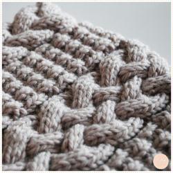 Tricoter Un Snood Femme Torsades Et Point Granité Idées