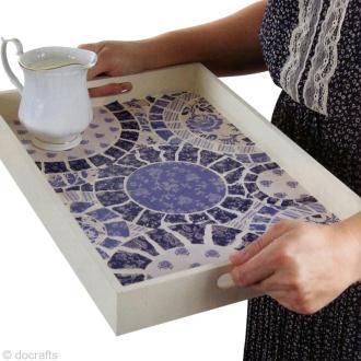 Tuto : décoration d'un plateau à thé Parisienne Blue (DIY)
