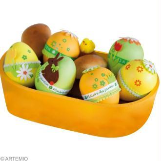 DIY Décoration de Pâques : oeufs décoratifs, panier à oeufs et petite armoire