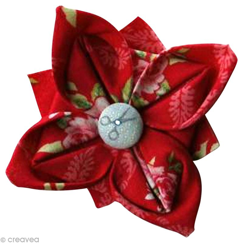 fabriquer une fleur en tissu tuto simple id es. Black Bedroom Furniture Sets. Home Design Ideas