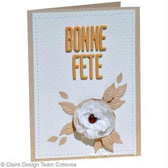 Fabriquer une carte avec fleur pour la fête des mères