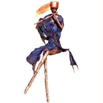 La dame à la flûte réalisée au Powertex