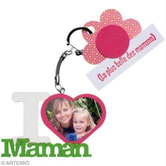 """Création Fête des Mères : Porte-clés """"I love maman"""""""