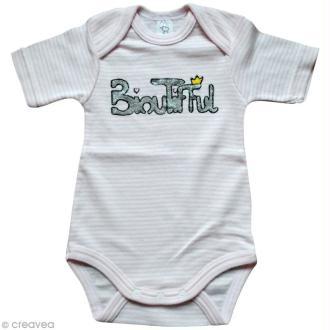 Customisation Body bébé au pochoir