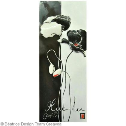 R aliser un tableau 3d fleurs design id es conseils et for Realiser cuisine 3d