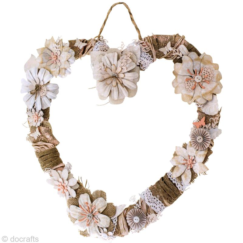 Une couronne coeur pour le printemps diy id es conseils for Coeur couronne et miroir apollinaire