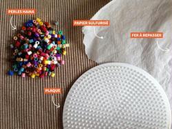 1. Fabriquer un dessous de verre en perles Hama : Matériel