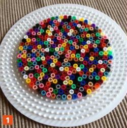 2. Etape 1 : Disposer les perles Hama