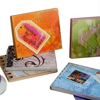 Boite de CD décorée et personnalisée façon scrapbooking