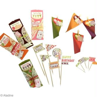 DIY Anniversaire : Carte d'invitation, fanions et boîte de bonbons