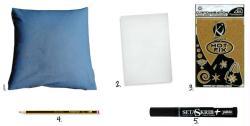 diy customiser un coussin dans un style new york id es conseils et tuto customisation. Black Bedroom Furniture Sets. Home Design Ideas