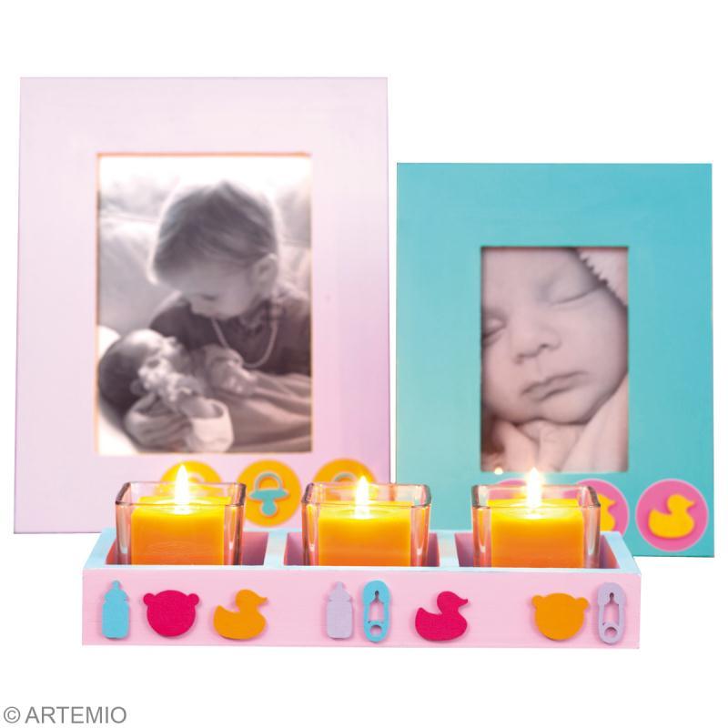diy cadeau de naissance photophores et bougeoirs id es. Black Bedroom Furniture Sets. Home Design Ideas