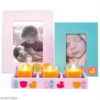 DIY cadeau de naissance : photophores et bougeoirs