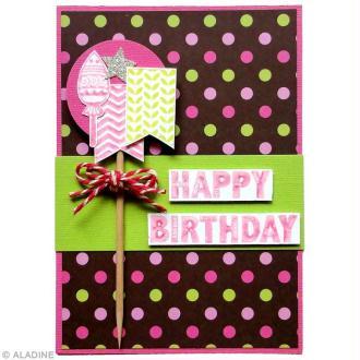 Tuto carterie : Réaliser une carte d'anniversaire