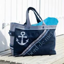 diy couture r aliser un sac de plage bleu id es. Black Bedroom Furniture Sets. Home Design Ideas