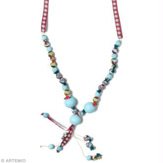 DIY collier de perles en tissu