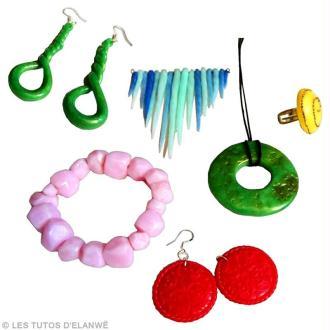 DIY bijoux en Fimo Effet pierre précieuse