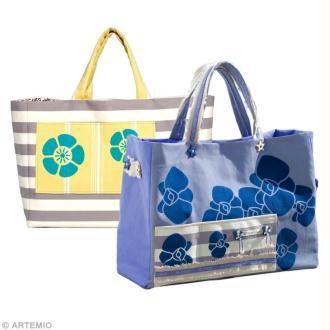 Fabriquer un sac de plage à fleurs : sac Orchidée et sac Fleurs chinoises