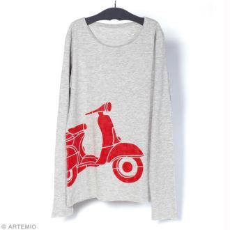 DIY : Customiser un t-shirt avec un motif Vespa