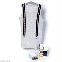 1. Customisation de t-shirt avec des bretelles : Matériel