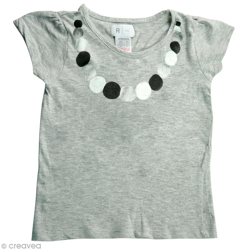 diy customiser un tee shirt pour petite fille id es conseils et tuto customisation. Black Bedroom Furniture Sets. Home Design Ideas