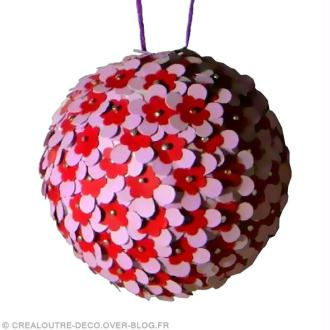 DIY Boule de Noël fleurie