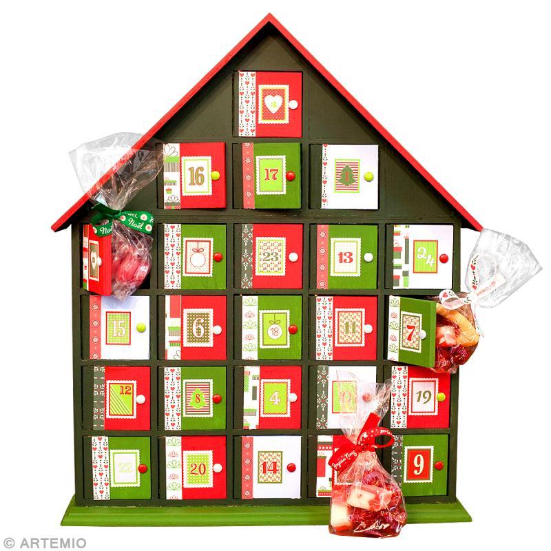 Calendrier de l 39 avent original en rouge et vert id es conseils et tuto calendrier de l 39 avent - Calendrier de l avent personnalise idee cadeau ...