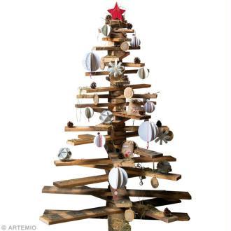 Création Noël : Décoration de sapin récup