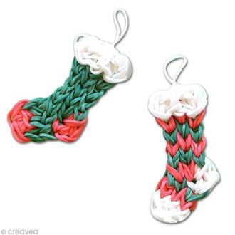 DIY chaussettes de Noël en rainbow loom