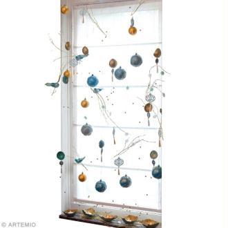 Décoration de Noël baroque en or et bleu faite maison