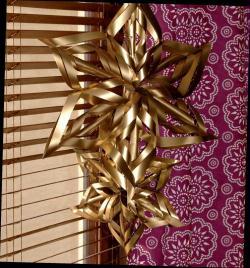6. L'étoile en papier réalisée