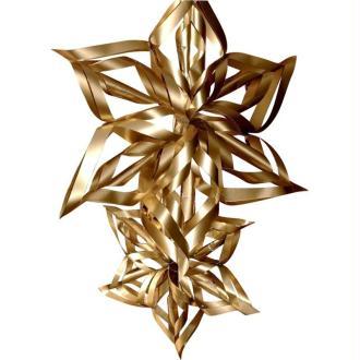 Déco de Noël : réaliser une étoile à suspendre en papier