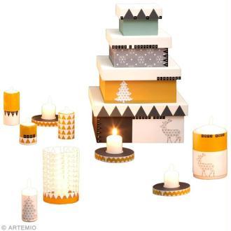 Création Noël : Bougies dorées